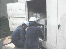 4.発電ケーブル接続作業